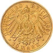 10 Mark - Friedrich Franz IV – revers