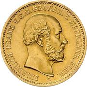 20 Mark - Friedrich Franz II – avers