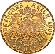 20 Mark - Friedrich Franz IV – revers