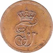 1 Pfennig - Friedrich Franz I – avers