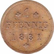 1 Pfennig - Friedrich Franz I – revers