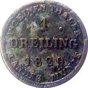 1 Dreiling - Friedrich Franz I – revers