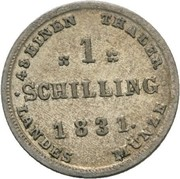 1 Schilling - Friedrich Franz I – revers