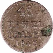 1/48 thaler - Friedrich Franz II – revers