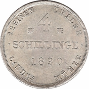 4 schillinge - Friedrich Franz I – revers