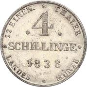 4 Schillinge - Paul Friedrich – revers