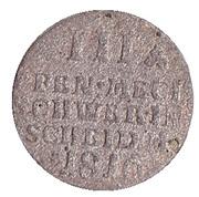 3 pfennig Friedrich Franz I. – revers