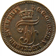 1 Pfennig - Friedrich Franz II – avers