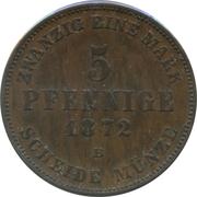 5 Pfennige - Friedrich Franz II – revers