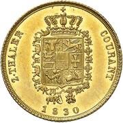 2 thaler Friedrich Franz I – revers