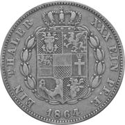 1 Taler - Friedrich Franz II – revers