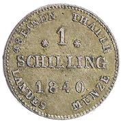 1 schilling Paul Friedrich – revers