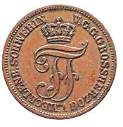 5 Pfennige - Friedrich Franz II – avers
