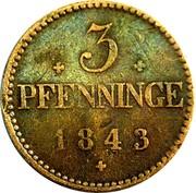 3 pfenninge - Friedrich Franz II – revers