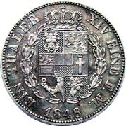 1 thaler Friedrich Franz II – revers