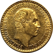 1/12 thaler - Friedrich Franz II – avers