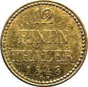 1/12 thaler - Friedrich Franz II – revers