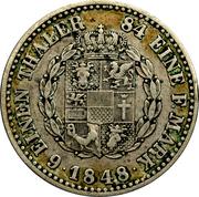 ⅙ thaler Friedrich Franz II – revers