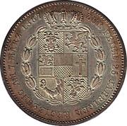 1 vereinsthaler - Friedrich Franz II (règne) – revers