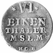 ⅙ thaler - Adolf Friedrich IV – revers