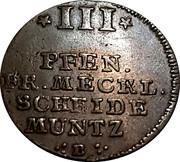 3 Pfennig Adolph Friedrich IV – revers