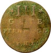 3 Pfennig - Adolf Friedrich III – revers