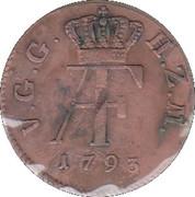 3 pfennig Adolf Friedrich IV – avers