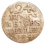 1/24 thaler Adolf Friedrich IV – revers