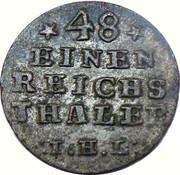 1/48 thaler Adolf Friedrich IV – revers