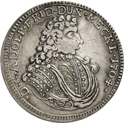 ⅔ Thaler - Adolf Friedrich II. – avers