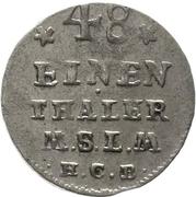 1/48 Thaler - Adolf Friedrich IV. – revers