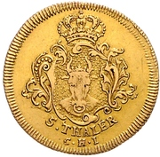5 Thaler - Adolf Friedrich III. – revers