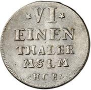 ⅙ Thaler - Adolf Friedrich III. – revers