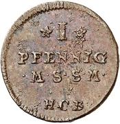 1 Pfennig -  Adolf Friedrich III. – revers