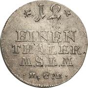 1/12 Thaler - Adolf Friedrich IV. – revers