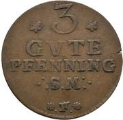 3 Pfennig - Adolph Friedrich IV. – revers