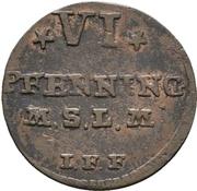 6 Pfennig - Adolph Friedrich IV. – revers