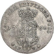 ⅔ Thaler - Adolf Friedrich IV. – revers