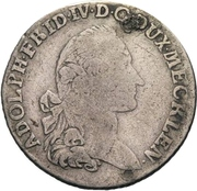 ⅙ Thaler - Adolf Friedrich IV. – avers