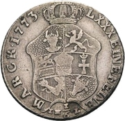 ⅙ Thaler - Adolf Friedrich IV. – revers