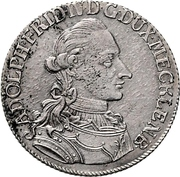 ⅓ Thaler - Adolf Friedrich IV. – avers