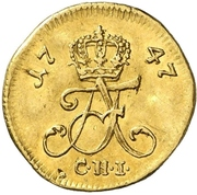 3 Gute Pfennig -  Adolf Friedrich III. (Gold pattern strike) – avers