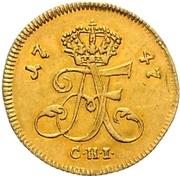 1/24 Thaler - Adolf Friedrich III. (Gold pattern strike) – avers