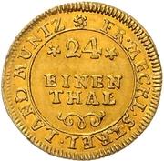 1/24 Thaler - Adolf Friedrich III. (Gold pattern strike) – revers