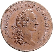 ⅙ Thaler - Adolf Friedrich IV. (Copper pattern strike) – avers