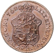 ⅙ Thaler - Adolf Friedrich IV. (Copper pattern strike) – revers