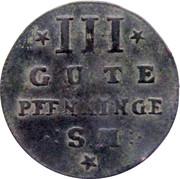 3 Gute Pfenninge - Adolf Friedrich IV – revers