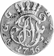 ⅙ thaler - Adolf Friedrich IV – avers