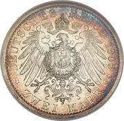 2 Mark - Adolph Friedrich V – revers