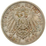 3 Mark - Adolph Friedrich V – revers
